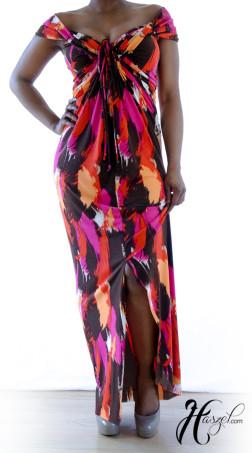 Short Sleeve Convertible Maxi Dress
